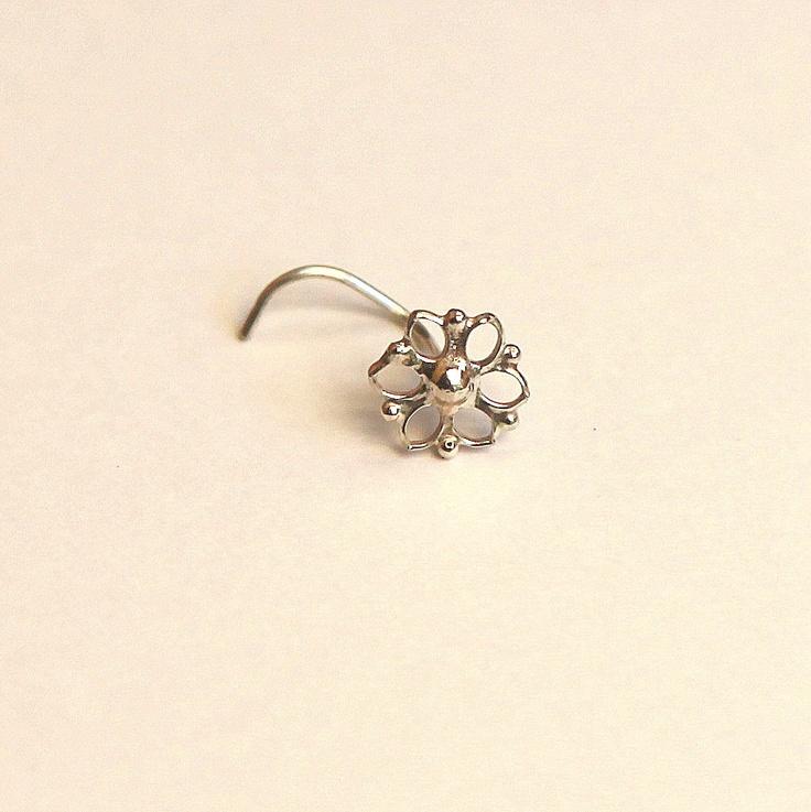 Mandala Nose stud - nose jewelry - silver nose stud - Silver nose stud 925 - stud - gipsy style - young at heart. $54.00, via Etsy.