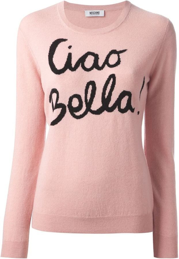 Moschino Cheap & Chic 'Ciao Bella' knit sweater on shopstyle.com
