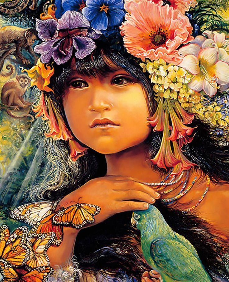 """Princess of the Amazona (zoom 2)"" par Josephine Wall"