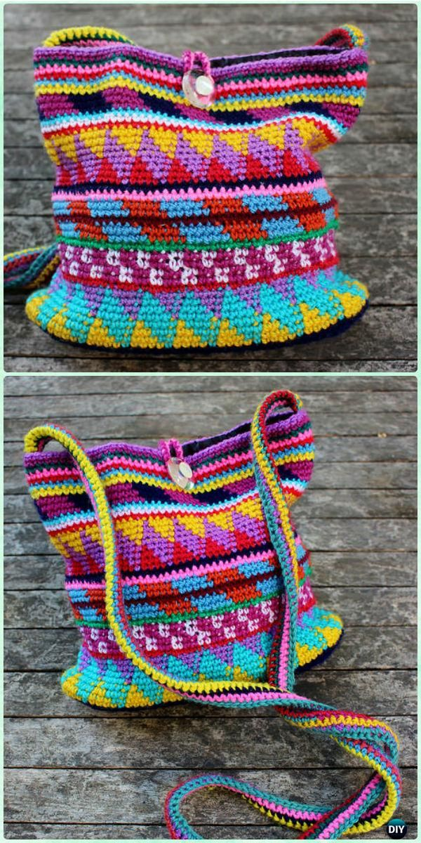 Crochet Maya Purse Bag Free Pattern - Crochet Handbag Free Patterns Instructions