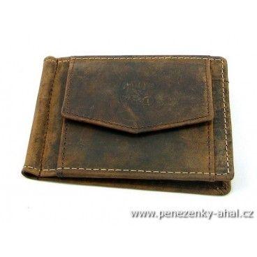 Dolarovka kožená pánská - to je stylová peněženka se sponou pro uchycení bankovek.