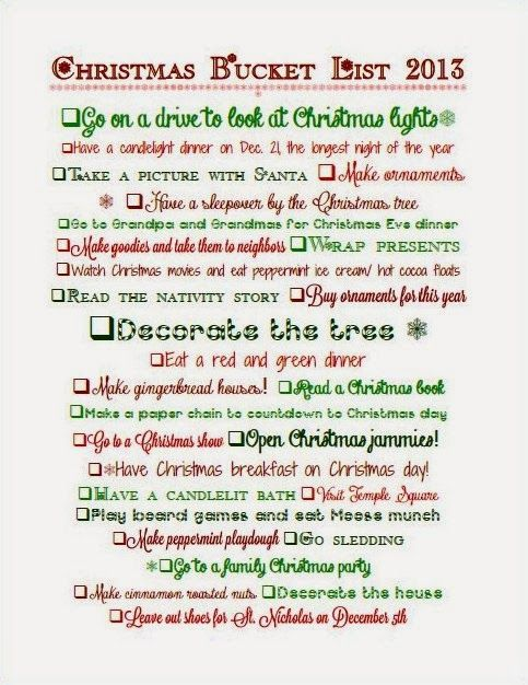 Christmas Bucket List #Christmas #bucketlist