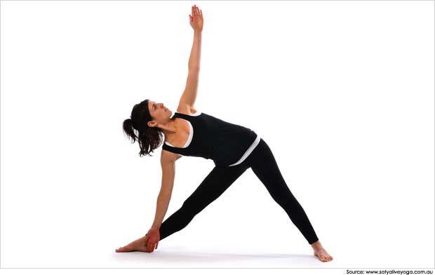Raja-Yoga-Meditation-Trikonasana Yoga