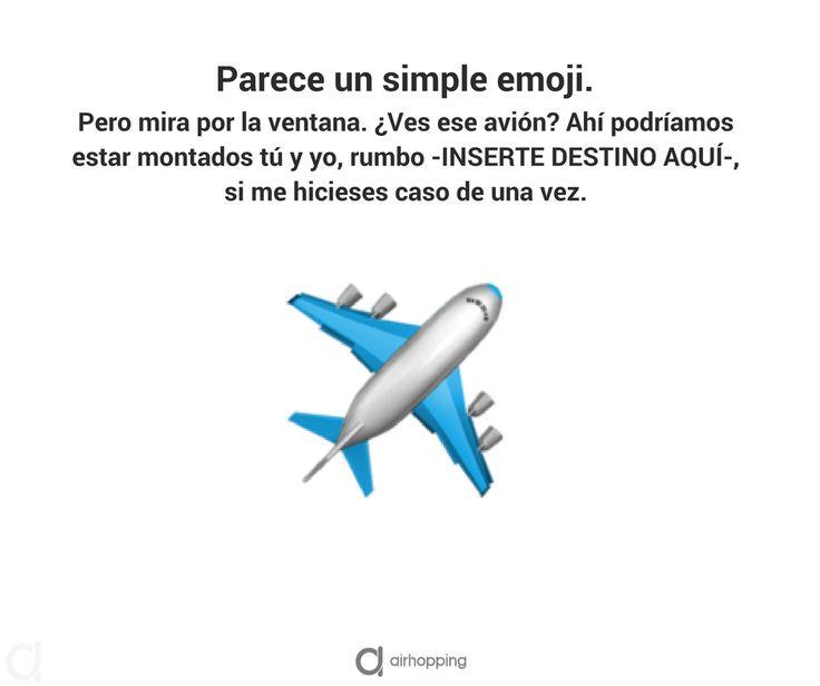 Parece un simple #emoji... Pero no. #viajes #inspiracion #verano #mundo #viajar #vuelos #avion #vueltaalmundo #travel #frases #quotes #triste #maleta #risa #humor #frase #viajeros #postureo #airhopping #interrail