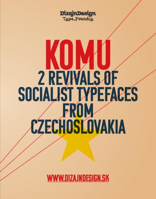 DizajnDesign - Komu Type specimen