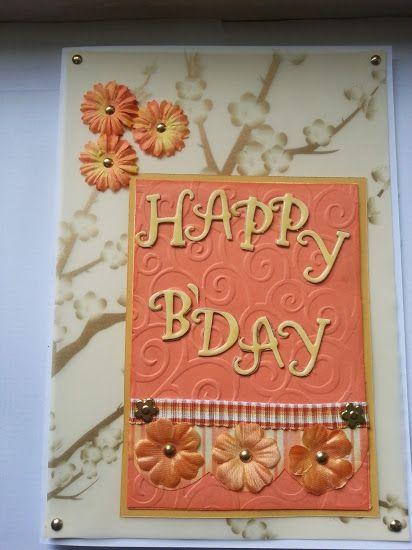 Birthday card in orange