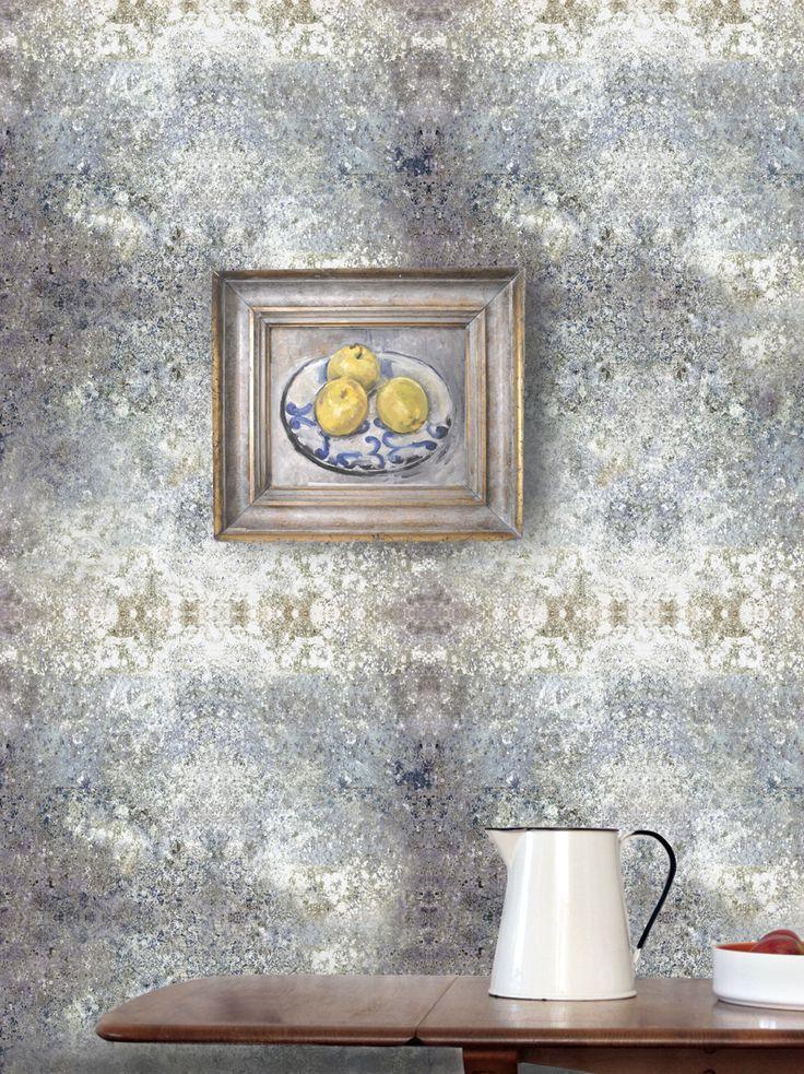 Louise Body Stonewall Flint Wallpaper - Stonewall Flint