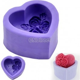 $6.20 New 3D Rose Flower Silicone Rubber Soap Chocolate Candle Molds DIY Handmade Mould Crafts Purple