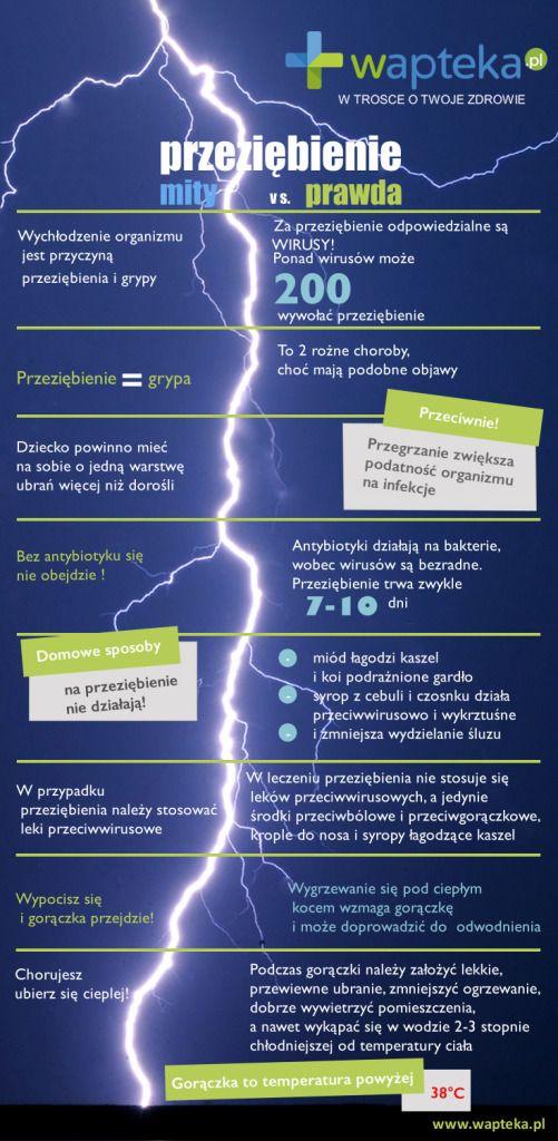 Infografika o faktach i mitach dotyczących przeziębienia i grypy. Dobrze wiedzieć! :)   http://www.wapteka.pl/blog/przeziebienie-fakty-mity/
