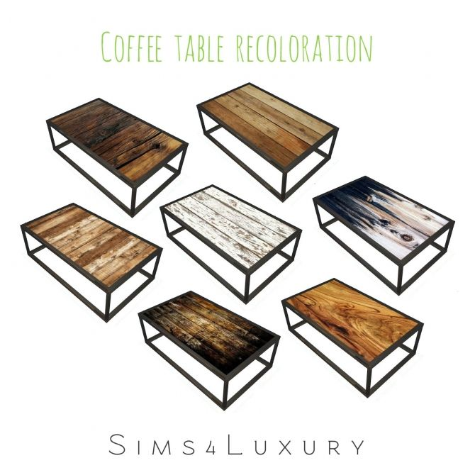 Industrial Chic Living Coffee Table Recolor at Sims4 Luxury • Sims 4 Updates  4 ...