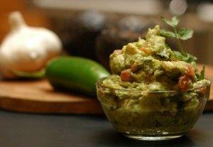 Zucchini in guacamole - love it!