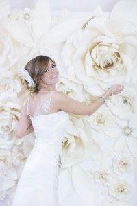 Flow Art Decor,  paper flower , wedding decorations   virágfal fotóháttér