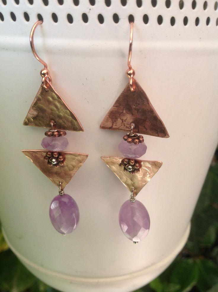 Zizi creation#earrings#copper#ametista#