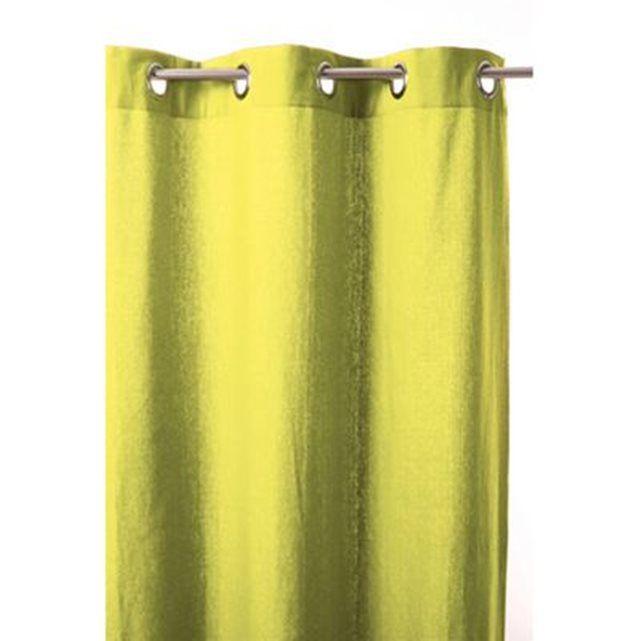 Rideau 8 oeillets - 140 x260 cm - Vert anis ATMOSPHERA | La Redoute Mobile