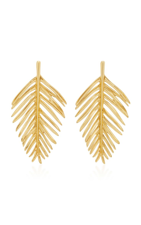 Palm Leaf Earring by Oscar de la Renta