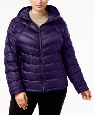 MICHAEL KORS Michael Michael Kors Plus Size Chevron Packable Puffer Coat. #michaelkors #cloth # coats