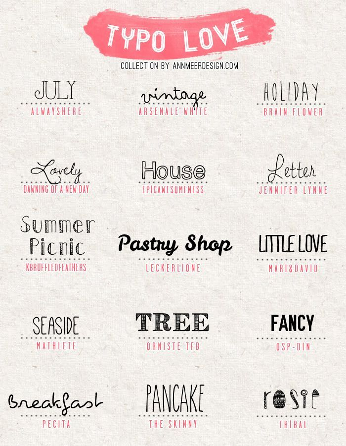 Ann.Meer by Anna-Maria Dahms: Lovely Fonts #4 Yes.