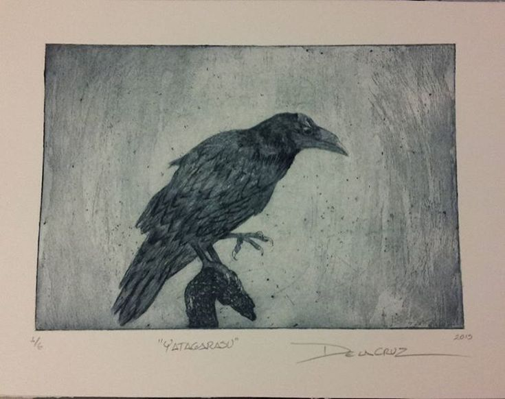 @el_grabador #Delacruz #yatagarasu #sanzuwu #crow #acquaforte #xartworks #get_imprinted #fbcartshare #instaartist #printmakersofinstagram #japan🇯🇵 #itisarttime #sicksoulssocialclub