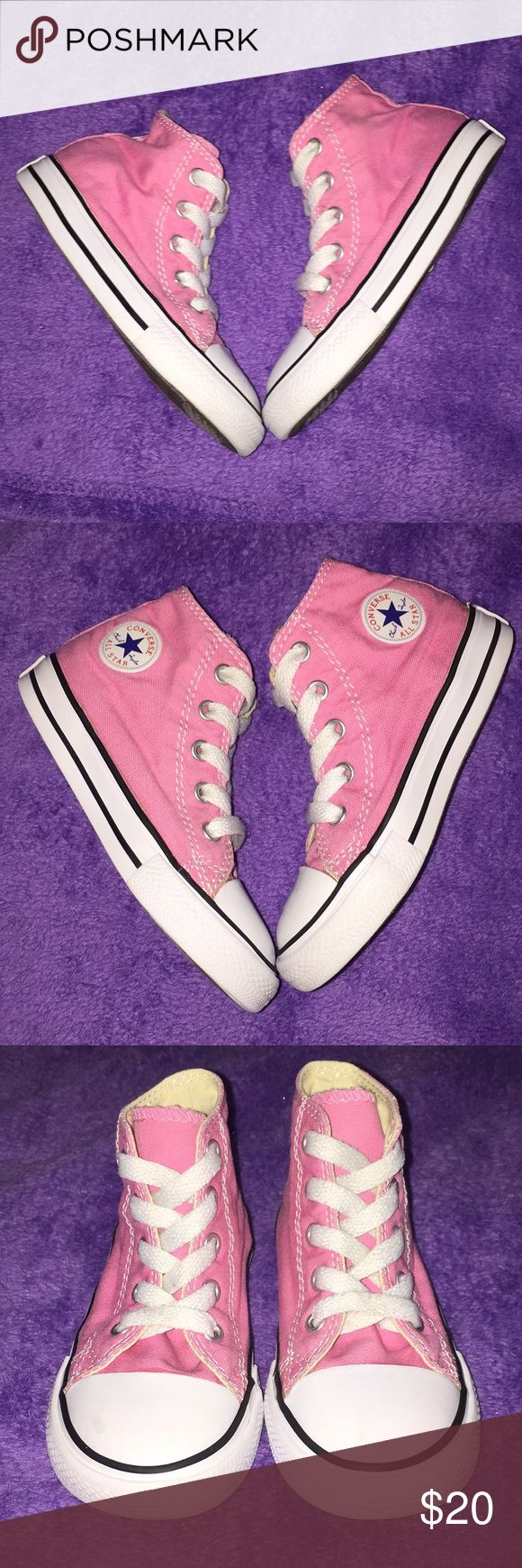 Pink high top converse 💕 In good condition 💕 Converse Shoes Sneakers
