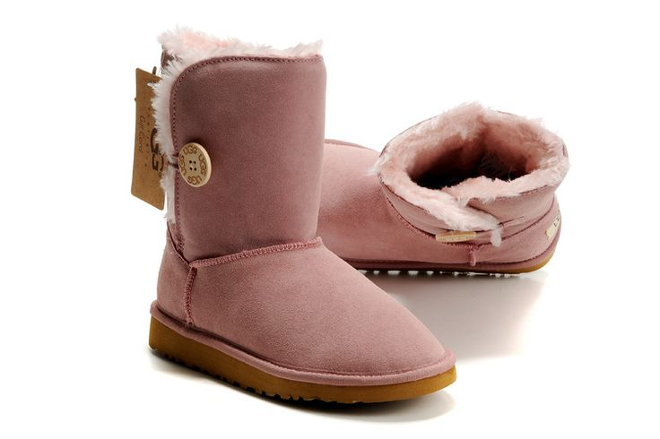 http://www.hiverbottesbuzzsolde.com   UGG Bailey Button Short/Basse 5803 Rose Pour Femme RE1541
