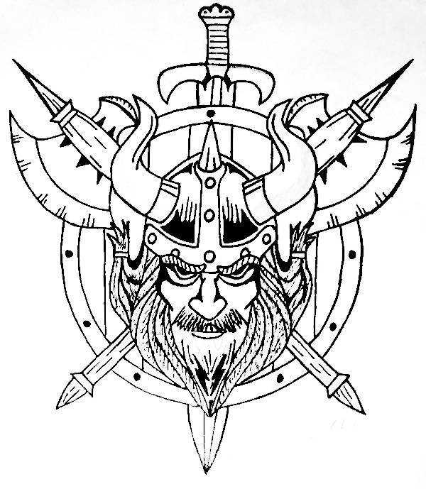 viking tattoo flash with axes swords and shields tattoo flash pinterest nice colors and. Black Bedroom Furniture Sets. Home Design Ideas