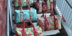 This Wonderful Pattern is Easier Than it Looks! Why settle for a ho-hum travel bag when you can have a bag made from beautiful fabric? You don't need to settle when you can make your own pretty duffel from this pattern. Besides being able to customize the fabric, the capacity and sturdy construction make this …