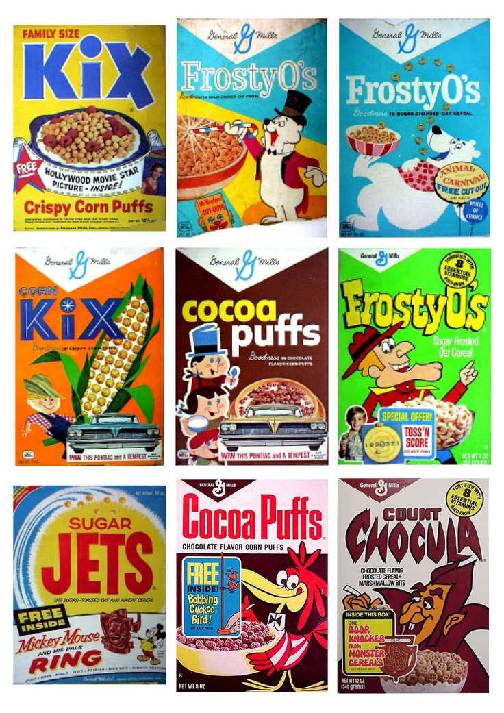 #Vintage #Retro Cereal Packaging