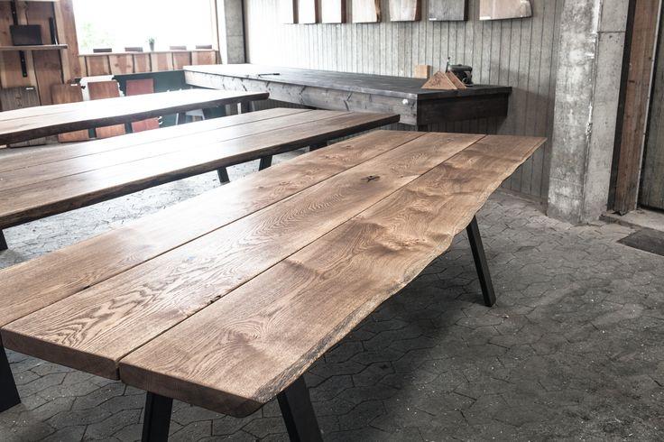 ege plankeborde, plankeborde, langborde, planker, egeplanker, egetræ, design » Plankeborde – klar til salg