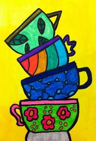 Artsonia Art Museum :: third grade teacups