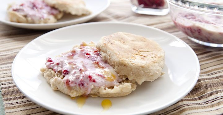 Homemade Crumpets - A simple and classic homemade crumpet recipe topped with a simple ricotta topping. A great lazy brunch or snack with tea!