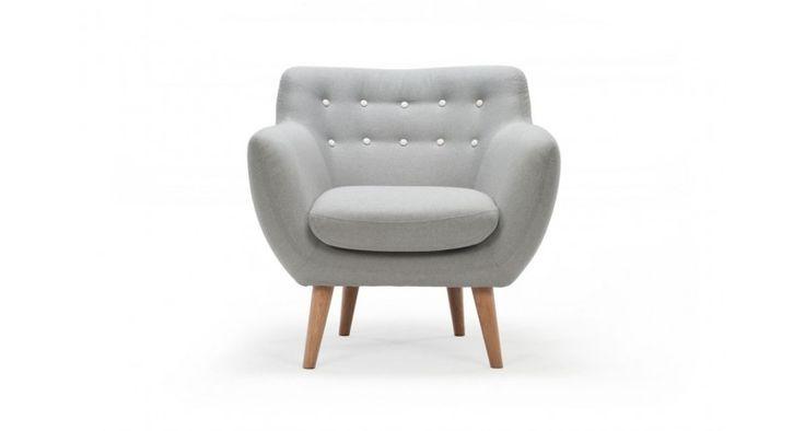Anne,  chair, Stella Light Grey,  Oak legs