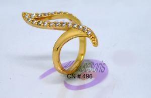 Cincin Mata Baris Imitias lapis Emas Warna Gold 18 k