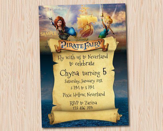 Pirate Fairy Invitation  Pirate Fairy Zarina by MaryAnnColors