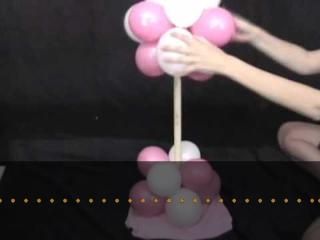 DIY tutorial how to make a balloon tree decorations