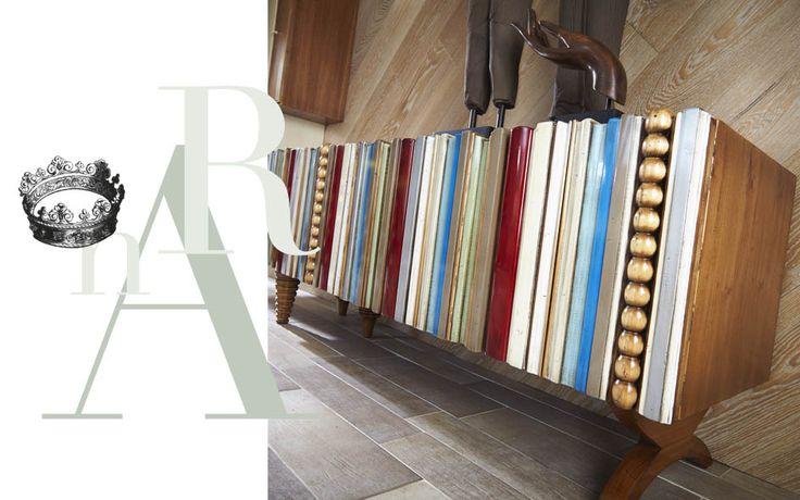 Serie de muebles pertenecientes al diseño Reina