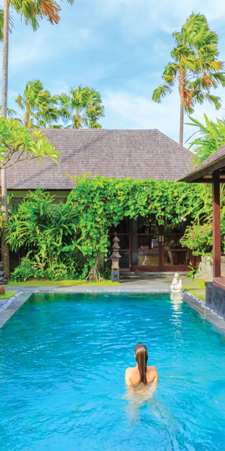 Villa swims at Peppers Sentosa in Seminyak, Bali - by Jewels Lynch