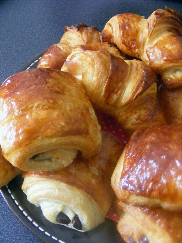 Rêve de gourmandises 2: Croissants et Pains au chocolat (Techniques et Photos)