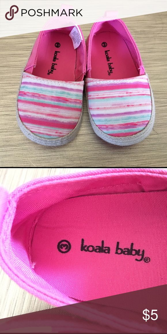 size 3 baby shoes never worn! size 3 pink with stripes. willing to bundle Koala Kids Shoes Sneakers