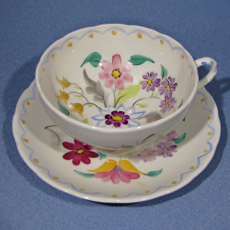 FOLEY EB Tea Cup and Saucer, 1930s Foley Hand Painted FLOWERS Tea Set, England Bone China, Excellent by Thinkilikeit on Etsy https://www.etsy.com/listing/398691931/foley-eb-tea-cup-and-saucer-1930s-foley