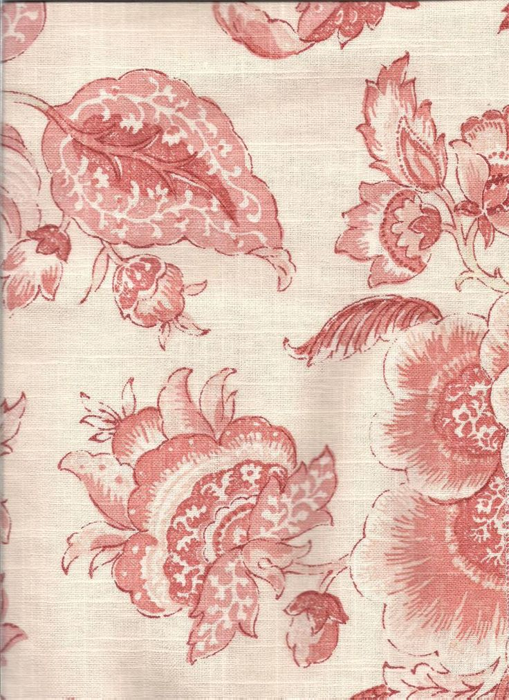 Tranquility In Coral Fabric Linen Blend With Pinks And Floral Jacobean Print Custom Tier Curtains For The Designer Kitchen Bay Window Living Room