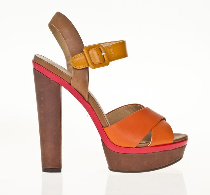 Bright detail block heels from Aldo
