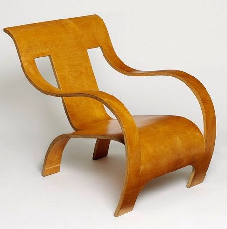 PLI en bois Gerald Summer,  Bent Birch Plywood Armchair for Makers of Simple Furniture, 1934.