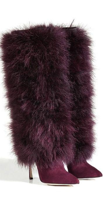 ** Sergio Rossi, Fall 2014 | Wine Fur Boots