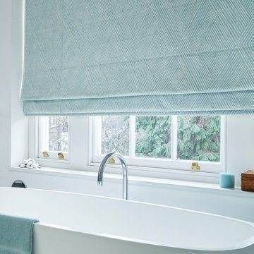 Zen collection of Roman blinds and curtains | Hillarys