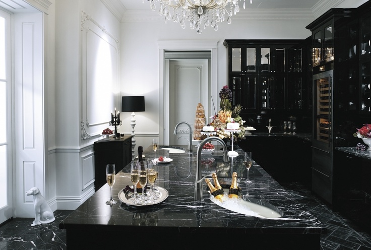 Black marble in the kitchen
