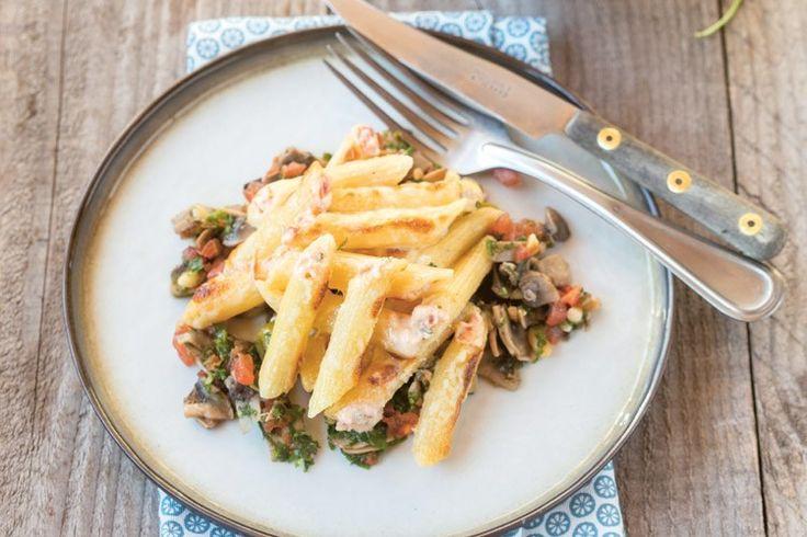 Een recept uit het boek 'Dagen zonder vlees', waarin bekende koks zoals Jeroen Meus, Peter Goossens, Michaël Vrijmoed en Sofie Dumont hun favoriete vegetar...