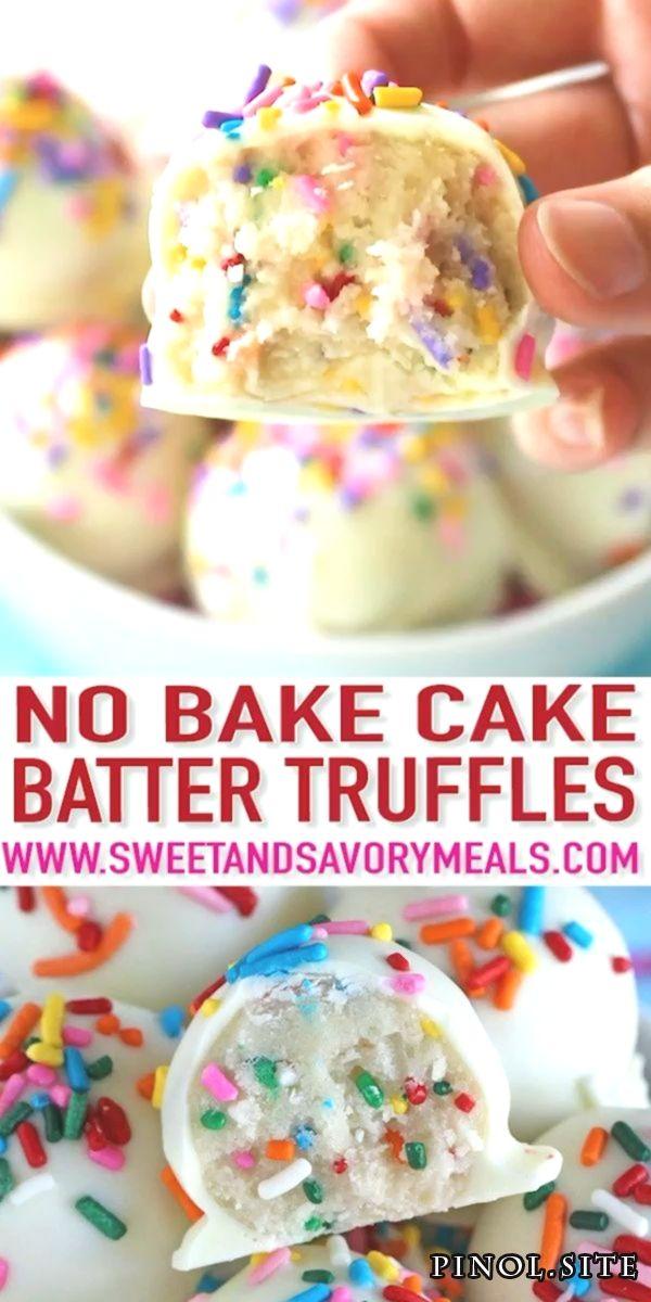 Kein Kuchen Backteig Trüffel  – süße und herzhafte Speisen – Favorite