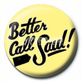 Officially Licensed Breaking Bad Better Call Saul! Badge @ niftywarehouse.com #NiftyWarehouse #BreakingBad #AMC #Show #TV #Shows #Gifts #Merchandise #WalterWhite