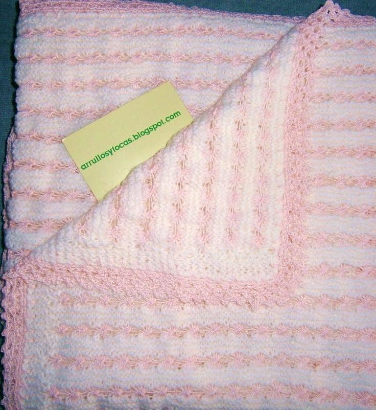 Toca de lana beis muy clara con rosa tocas para beb s - Toca de ganchillo ...