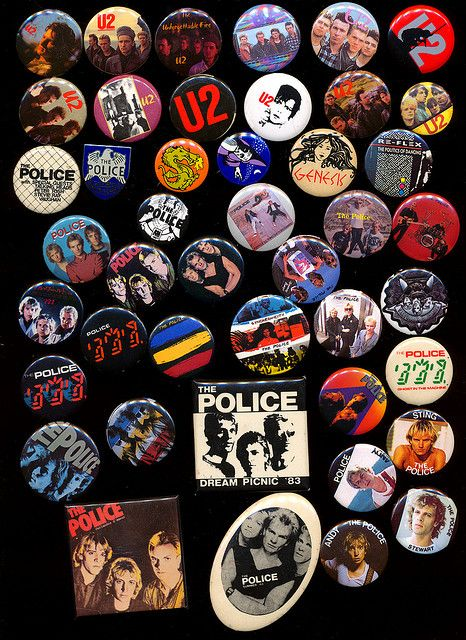 1980s buttons (gee, I had a bunch of these too!) Why be normal & your Mama dresses you funny were my favorites!